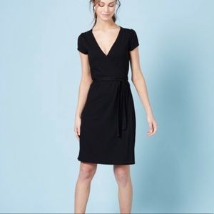 Boden Black Jersey Wrap Dress 12R